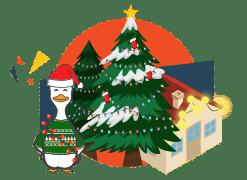 winducks christmas lights for landscape